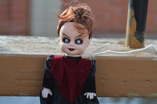 Vampire, Day Of The Dead, Doll, Eyes, Face, Demon, Evil