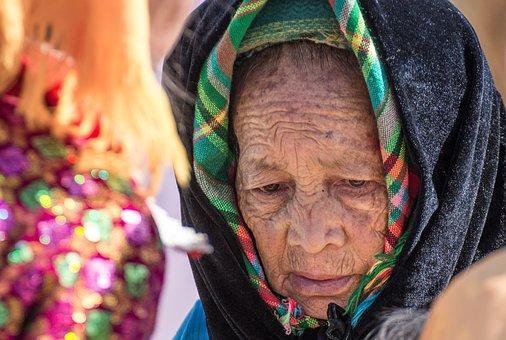Woman, Old, Eyes, Vietnam, Dong Van, Bazaar, The Market