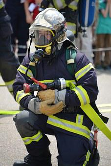 Fire Fighter, Fire, Wear Protective Clothing