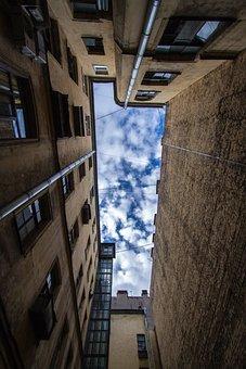 Yard-well, Saint Petersburg, Sky, Yard - Well, Yard