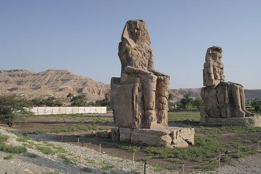 Egypt, Colossi Of Memnon, Ancient Times, Nile, Pharaohs