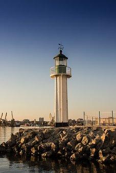 Lighthouse, Port Burgas, Beacon, Burgas, Bulgaria, Port