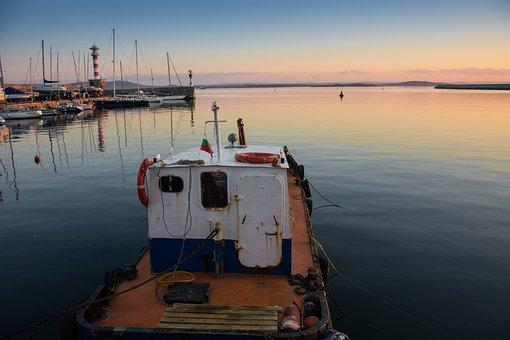 Boat, Sea, Pier, Water, Blue, Ocean, Sky, Beach, Summer