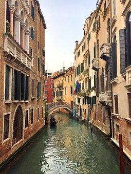 Venice, Channel, Bridge, Homes