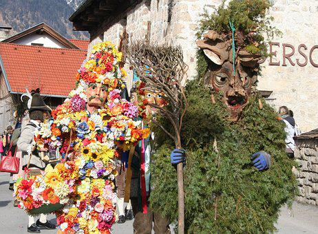 Carnival Parade, Tyrol, Customs, Absam