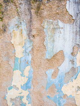 Wall, Old, Plaster, Cement, Demolished Color