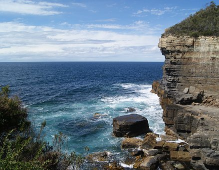 Coast, Cliff, Ocean, Sea, Coastline, Rock, Landscape