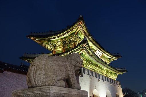 Gwanghwamun, Night View, Sejongno, Historic Sites