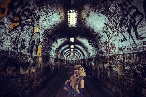 Girl, Tunnel, Scary, Terror, Zombie, Nightmare, Horor