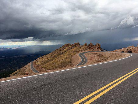 Long Road, High Peak, Peak, High, Mountain, Landscape