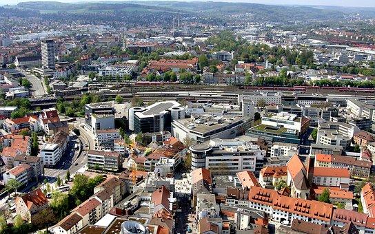 Ulm, Münster, Pedestrian Zone, Railway Station