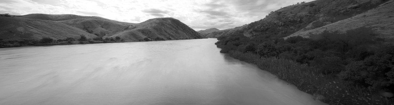 Madagascar, River, Panoramic, Large, Flow