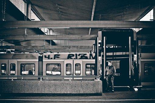 Railway Station, Platform, Rail Traffic, Passengers