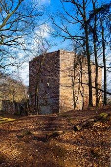Ruin, Castle, Architecture, History, Alsace, Wasenbourg