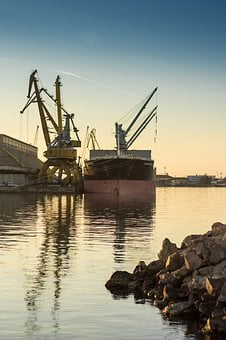 Vessel, Loading, Port, Bay, Cargo, Ship, Container
