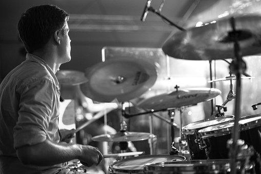Drums, Drummer, Floor, Sticks, Pool, Drum