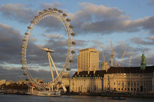 London Eye, London, Ferris Wheel, Thames