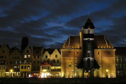 Gdańsk, Crane, Tourism, The Old Town, Poland