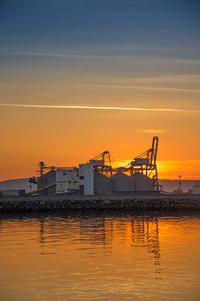 Industrial, Port, Harbor, Cargo, Industry, Transport