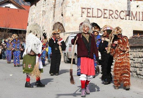 Carnival Parade, Tyrol, Customs, Absam
