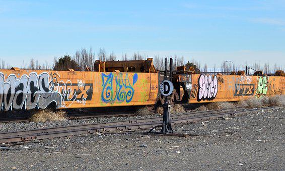 Train, Car, Graffiti, Transport, Vehicle, Railway