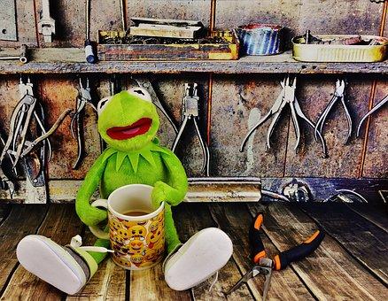 Kermit, Workshop, Coffee Break, Pliers, Frog
