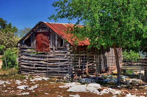 Barn, Rustic, Fredericksburg, Texas, Old, Wooden