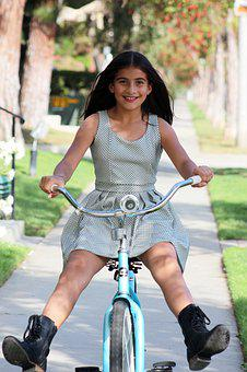 Girl, Youth, Bike, Middle School, Pre-adolescent