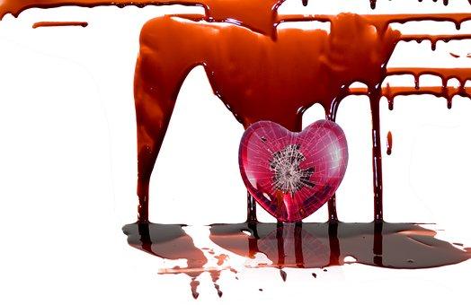 Blood, Heart, Broken Heart, Sad, Broken, Bloody