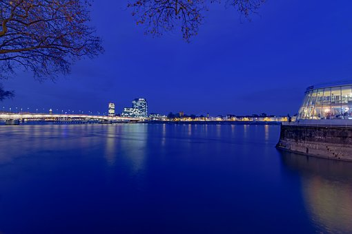 Chocolate Museum, Cologne, Night, Blue Hour