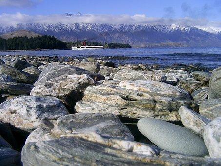 Queenstown, Lake Wakatipu, Lake, Steamer, Boat