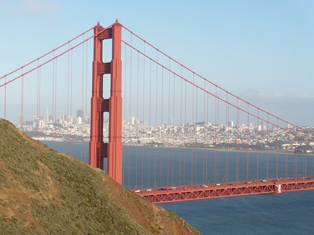 San Från, San Francisco, City, Bridge, Golden Gate