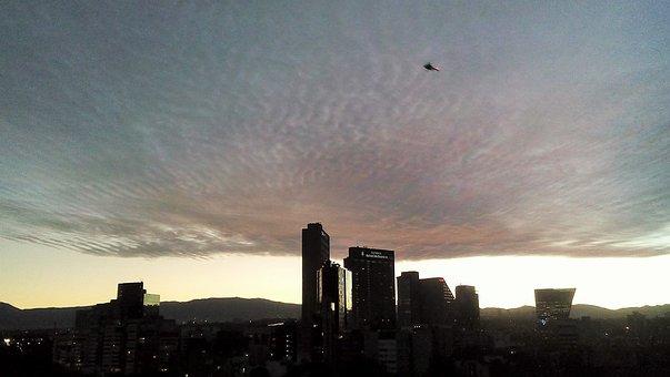 Sunset, Sky, Masaryk, Clouds, Sun, Backlight