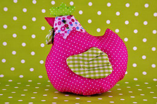 Chicken, Easter, Fabric, Spring, Decoration