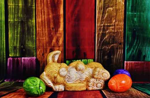 Easter Bunny, Easter Eggs, Easter, Colorful Eggs, Hare