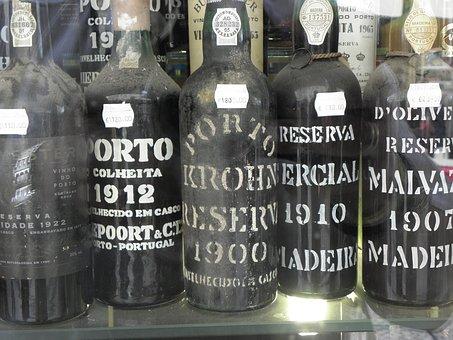 Wine, Old Bottles, Bottles, Enjoyment