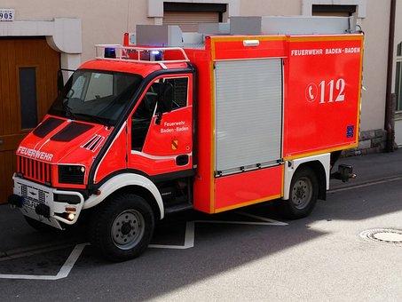Fire, Vehicle, Truck, Vehicles, Fire Truck, Blue Light