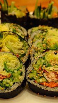 Food, Korean Food, Kimbub, Meal, Korean, Dish