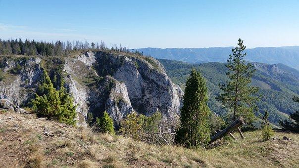 Mountain, Rocks, Romania, Landscape, Nature, Sky, Green