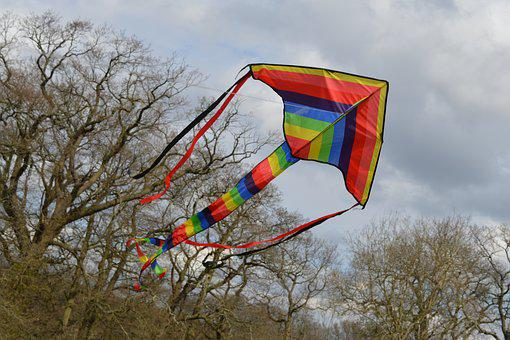 Kite, Tail, Trees