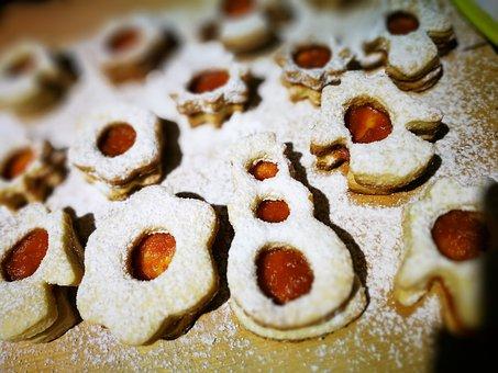Linzer, Christmas, Cake, Mood, Sugar, Cookie, Holidays