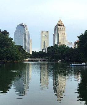 Lumpini, Thailand, Park, Bangkok, Building