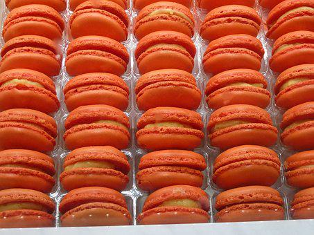 Macaroons, Paris, Orange, Macaron, Food, Sweet