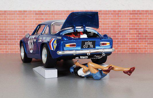 Model Car, Renault, Renault Alpine, Model, Mechanic