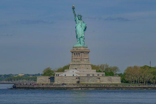 Statue, Statue Of Liberty, Nyc, New York, Upper Bay