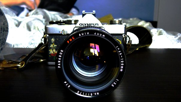 Camera, Picture, Photography, 35mm, Silver, Old Device