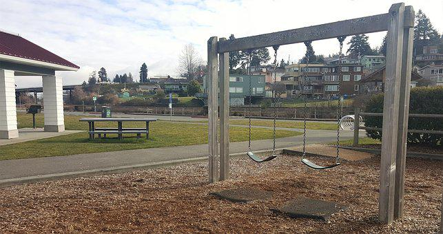 Park, Swings, Recreation, Playground, Childhood