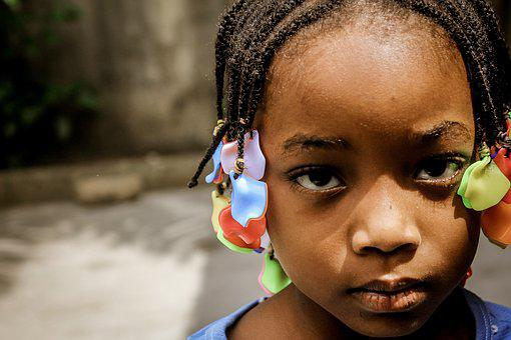 Child, Black, Black White, Face, Picture, Portrait