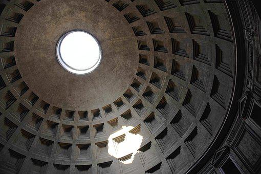 Pantheon, Ceiling, Rome, Italy, Architecture