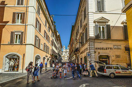 Rome, Spanish, Steps, Street, Alley, Vacation, City